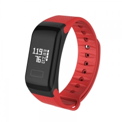 Wristband Fitness Tracker Andorid Heart Rate Blood Pressure Calorie GPS Bluetooth Bracelet One Size red as picture
