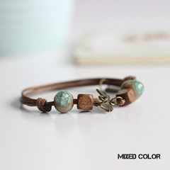 Be Yourself Women Charm Ceramics Bracelet Lucky Fashion Bracelet Handmade Jewellery Gift For Her mixed color 15cm~22cm