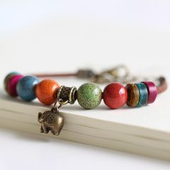 Be Yourself Women Charm Ceramics Bracelet Lucky Fashion Bracelet Handmade Jewellery Gift For Her as picture 15cm~20cm