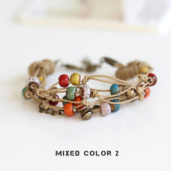 Be Yourself Women Charm Ceramics Bracelet Lucky Fashion Bracelet Handmade  Jewellery Gift  For Her mixed color 2 Adjustable