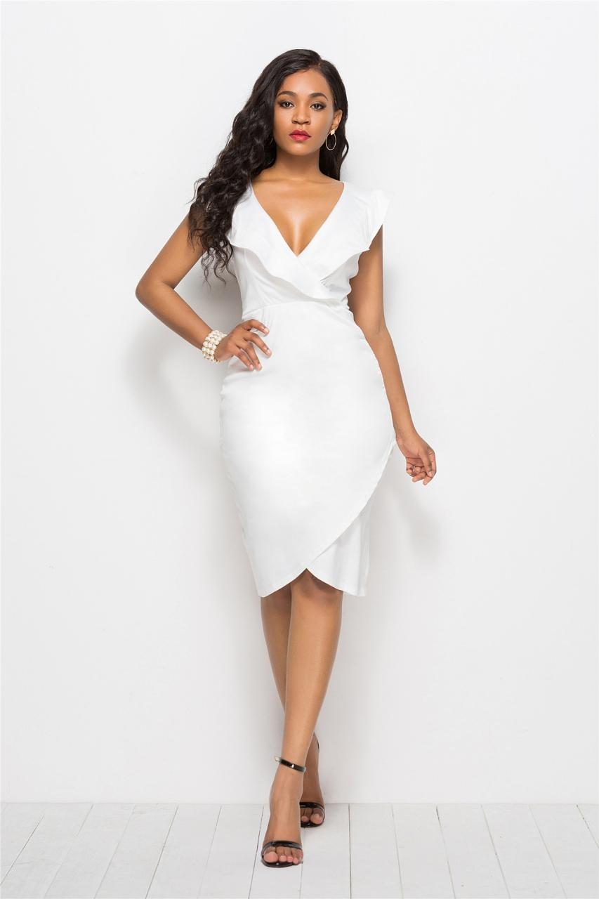 1778795700 Hot Women s Dress S-3XL Sexy V-neck Cherrykeke Hip Package One-piece ...