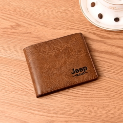 New Summer Fashion Short Wallet For Men black one size