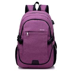 Backpack Bag Anti theft USB Slot Laptop Notebook Waterproof Back Pack Bag School Men and Women purple 32*18*48CM