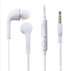 S4 Heavy bass earphone ear control Android Apple mobile phone headset white
