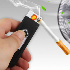 Creative small Rechargeable USB Windproof Flameless Charging Electronic Cigarette lighter Smokeless red