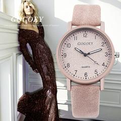 Lasting Women's Watches Fashion Leather Wrist Watch Women Watches Ladies Watch Clock pink fashion watch