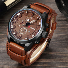 Army Military Quartz Mens Watches Top Brand Luxury Leather Men Watch Casual Sport Male Clock Watch brown and brown