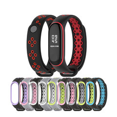Smart Accessories For Xiaomi Mi Band 3 Miband 3 Strap Replacement Sport Two Color Silicone Bracelet black grey fashion watch mi band 3 strap