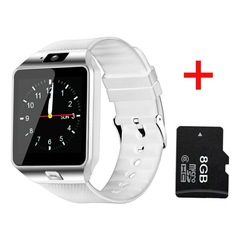 Smart Watch Smartwatch Passometer Support SIM TF Card Smartwatch DZ09 Reminder Smart Watch for Phone white add 8g sd card fashion watch