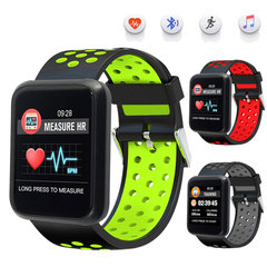 Smart Watch Blood Pressure Men Women Smartwatch Heart Rate IP67 Waterproof for Huawei IOS Android black green fashion watch