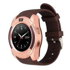 Sport Smart Watches Anti-lost Smartwatch Support SIM TF Card Clock Call Step Count Sleep Remind v8 gold fashion watch