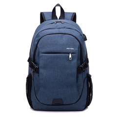 Backpack Bag Anti theft USB Slot Laptop Notebook Waterproof Back Pack Bag School Men and Women blue 32*18*48CM