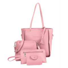 Women Shoulder Bag Female all grounds for Everyday purchases All Use High Quality Ladies Handbag pink 4pcs bags 32*25*12