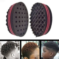 Damai Wave Barber Hair Brush Sponge For Dreads Afro Locs Twist Curl Coil Barbershop black 1
