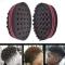 Damai Wave Barber Hair Brush Sponge For Dreads Afro Locs Twist Curl Coil Barbershop black 1