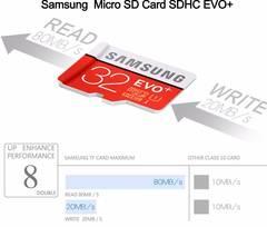SAMSUNG EVO+ Micro SD 32G SDHC 80mb/s Grade Class10 Memory Card C10 UHS-I TF/SD Cards 64GB 128GB 64G 1 1