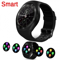 Bluetooth Y1 Smart Watch Relogio Android Smartwatch Phone Call SIM TF Camera Smartwatch Clock black 30mm