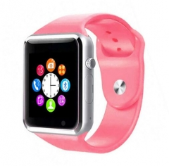 A1 WristWatch Bluetooth Smart Watch Sport Pedometer With SIM Camera Smartwatch For Smartphone pink 1.54inch
