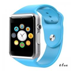 A1 WristWatch Bluetooth Smart Watch Sport Pedometer With SIM Camera Smartwatch For Smartphone blue 1.54inch
