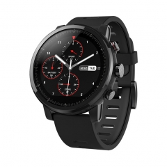 Huami Stratos 2 Smartwatch Sport Bluetooth GPS Ceramic Verge Heart Monitor 11 Kind Mode Waterproof black 1.34inch