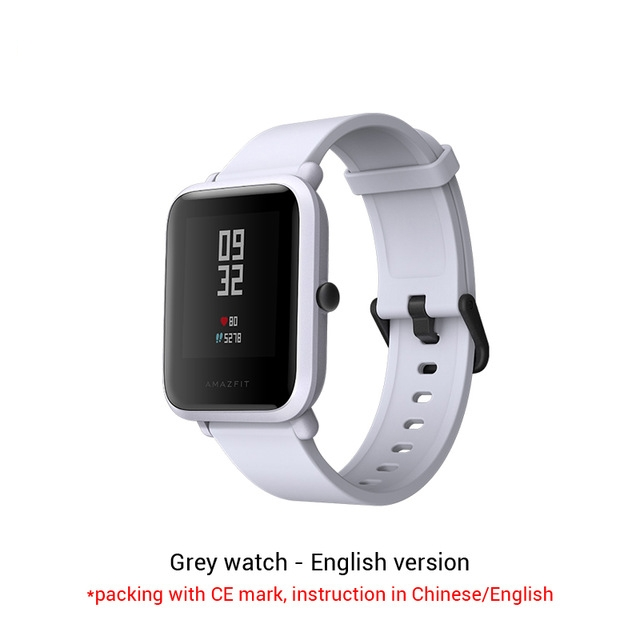 Amazfit Bip Smart Watch Huami GPS Smartwatch Android iOS Heart Rate Monitor 45 Days Battery IP68 white 1.28inch
