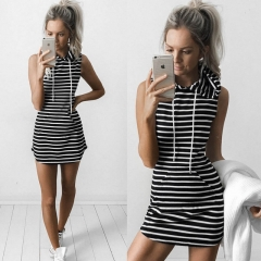 2018 Hot Selling Women Sexy Spring Summer Evening Party Casual Sleeveless Dresses Lady's Mini Dress s black