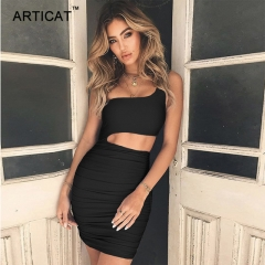 Off Shoulder Sexy Bodycon Bandage Dress Women Sexy Strapless Long Sleeve Hollow Out Party Dresses s black