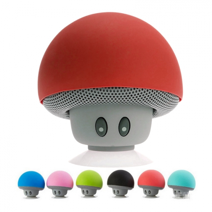 Portable Mini Mushroom Wireless Bluetooth Speaker Waterproof Shower