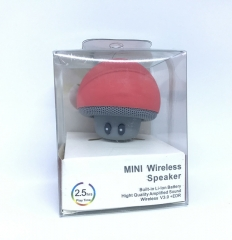 Portable Mini Mushroom Wireless Bluetooth Speaker Waterproof Shower Stereo Subwoofer Music Player pink 3w one size
