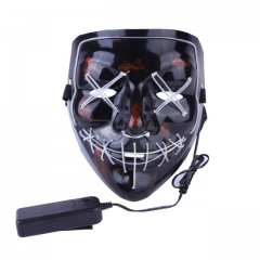 Halloween Mask LED Light Up Party Masks The Purge Election Year Masks Festival Costume Glow In Dark H one size