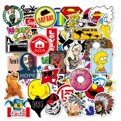 50PCS Fashion Style Graffiti Stickers DIY Luggage Laptop Skateboard Car Motorcycle Bicycle Stickers 50pcs/set one size