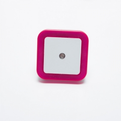 Light Sensor Control Night Light Mini EU Plug Square Bedroom lamp For Baby Romantic Colorful Lights pink one size 0.5W