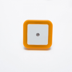 Light Sensor Control Night Light Mini EU Plug Square Bedroom lamp For Baby Romantic Colorful Lights yellow one size 0.5W