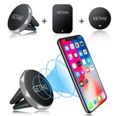 Car Phone Holder Magnetic Air Vent Mount Mobile Smartphone Stand Magnet Support Cell in Car GPS black one size