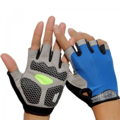 Men&Women's Sports 3D Gel Padded Anti-Slip Gloves Gym Fitness Weight Lifting Body Building Exercise a m