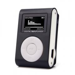 Fashion MP3 Player USB Clip Mini LCD Screen Support 32GB Micro SD TF Card black