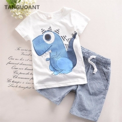 Boys Clothing Children Summer Boys Clothes Cartoon Kids Boy Clothing Set T-shit+Pants Cotton