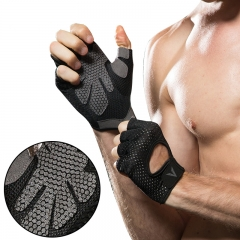 Professional gym gloves exercise hands protecting breathable sports gloves fitness weight-lifting black s