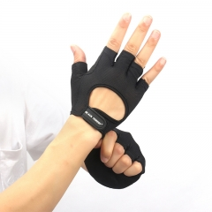 Sports Fitne Glove for Bodybuilding Weight Lifting Gloves Hollow Breathable Anti Gym Fingerle Gloves black s