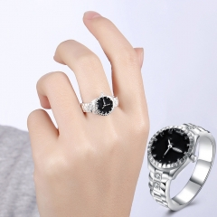 Steel Finger Ring Watch Women Men Top Brand Diamond Dial Quartz Watch Rings Couple Just a Decoration a 5