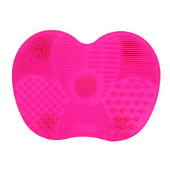 Silicone scrubbing pad with suction cup cleaning pad makeup brush cleaning tool beauty brush pad rose red