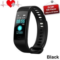 Smart Band Color Screen Wristband Heart Rate Activity Fitness tracker Smart Electronics Bracelet black a