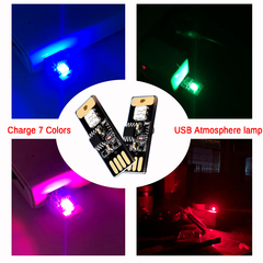 LED Atmosphere light USB intelligent Voice Control Induction Colorful Music Rhythm Car Interior