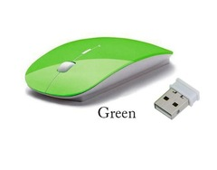 2.4G Wireless Mouse 1600 DPI USB Optical Wireless Computer Mouse 2.4G Receiver Super Slim Mouse Green one size
