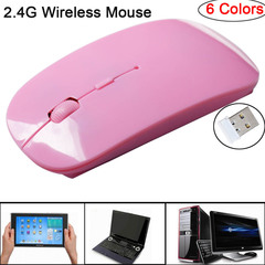 2.4G Wireless Mouse 1600 DPI USB Optical Wireless Computer Mouse 2.4G Receiver Super Slim Mouse Pink one size