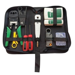 18Pcs Cable Clamp Tester Stripping Tool Crystal Head Network Tool Kit Network Repair Tool Set 18Pcs Cable Tool