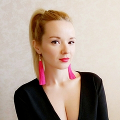 Long Tassel Earrings Women Jewelry Geometric Alloy Plating Simple Dangle Drop Earrings 1 a