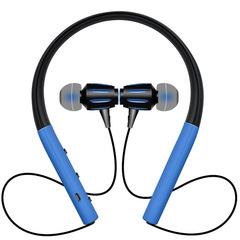 Bluetooth headphones SGS Waterproof wireless headphone sports bass bluetooth earphone with mic Blue