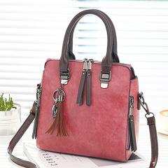 Vintage Leather Messenger bags handbags for Women Designer Shoulder Bag crossbody Boston tote bags pink 24*13*24cm