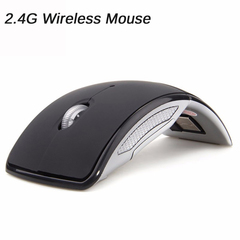2.4G Wireless Mouse Portable Computer Optical Mouse Foldable Mouse Mini Fold Mice for Laptop PC black one size